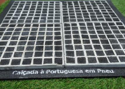 Calçada à Portuguesa em Pneu